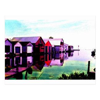 Cartão Postal Boathouses de Rowan do porto
