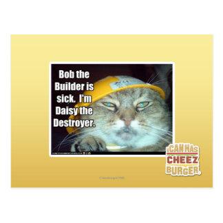 Cartão Postal Bob o construtor é doente