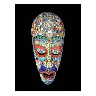 Cartão Postal Bob, por que a cara longa? Máscara do mosaico