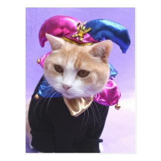 Cartão Postal Bobo da corte do gatinho