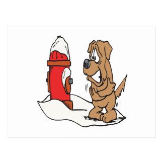 Cartão Postal Boca de incêndio do cão e de fogo
