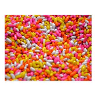 Cartão Postal Bocados revestidos do Liquorice dos doces