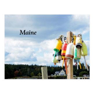 Cartão Postal bóias da lagosta em Maine