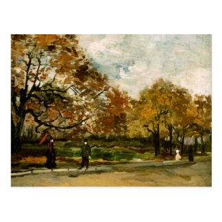 Cartão Postal Bois de Boulogne, pessoas que andam, Vincent van