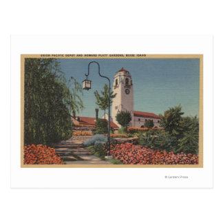Cartão Postal Boise, identificação - vista da união o Pacífico