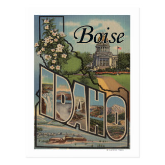 Cartão Postal Boise, letra ScenesBoise de IdahoLarge,