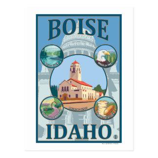 Cartão Postal Boise, poster de viagens de IdahoScenic