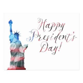 Cartão Postal Bokeh da liberdade do Dia do presidente feliz