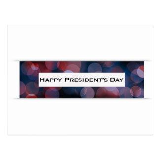 Cartão Postal Bokeh do Dia do presidente feliz