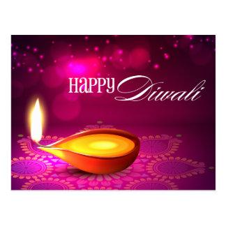 Cartão Postal Bokeh ilumina a lâmpada de Diwali