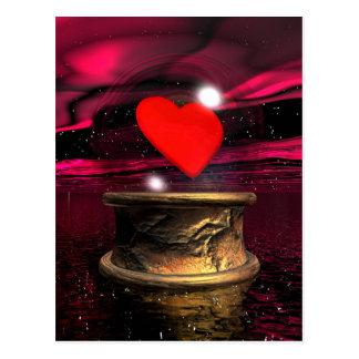Cartão Postal Bola de cristal para o amor - 3D rendem