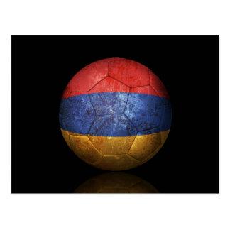 Cartão Postal Bola de futebol arménia gasta do futebol de