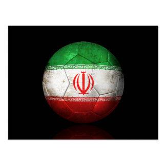 Cartão Postal Bola de futebol iraniana gasta do futebol de