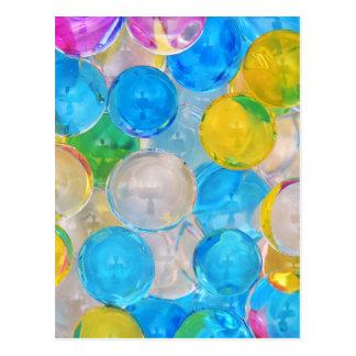 Cartão Postal bolas da água