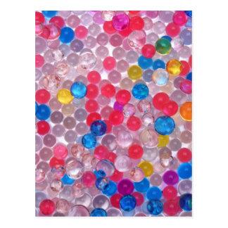 Cartão Postal bolas da água do colore