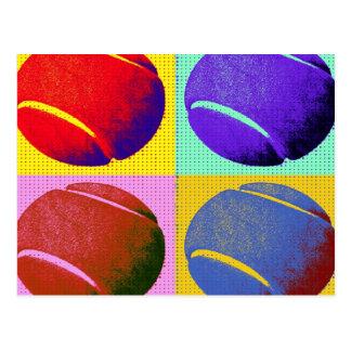 Cartão Postal Bolas de tênis Funky