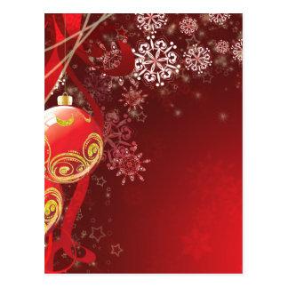 Cartão Postal Bolas decorativas 6 do Xmas