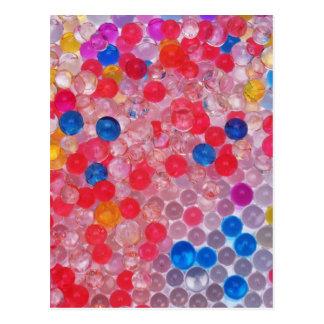 Cartão Postal bolas transparentes da água
