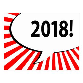 Cartão Postal bolha 2018 cómica