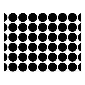Cartão Postal Bolinhas pretas no branco