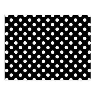 Cartão Postal Bolinhas preto e branco