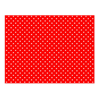 Cartão Postal Bolinhas vermelhas e brancas minúsculas