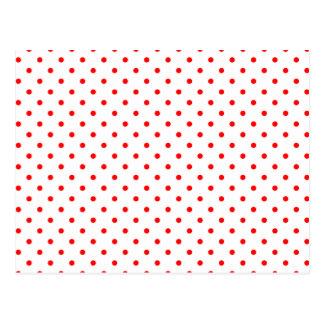 Cartão Postal Bolinhas vermelhas minúsculas