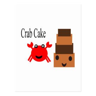 Cartão Postal Bolo de caranguejo 2.5s dos desenhos animados