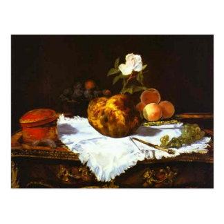 Cartão Postal Bolo frito de Edouard Manet- A