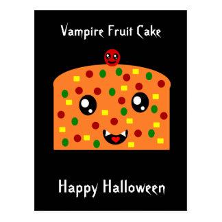 """Cartão Postal Bolo """"o Dia das Bruxas feliz """" da fruta do vampiro"""