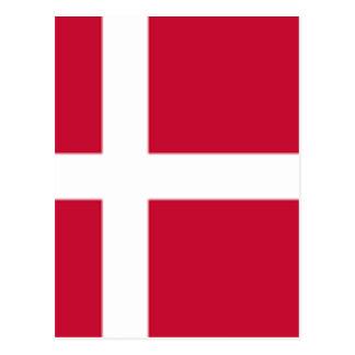 Cartão Postal Bom impressão da bandeira de Dinamarca da cor