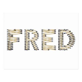 Cartão Postal Bom logotipo de FRED