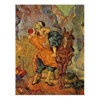 Cartão Postal Bom samaritano (após Delacroix), Vincent van Gogh