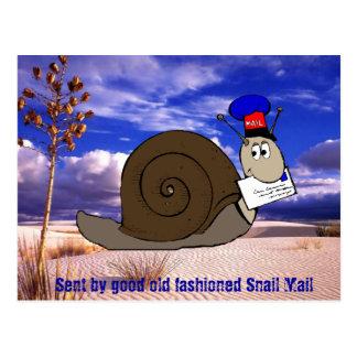 Cartão Postal Bom snail mail antiquado