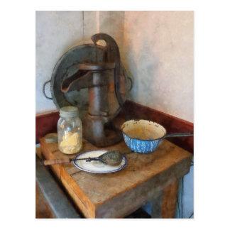 Cartão Postal Bomba de água na cozinha
