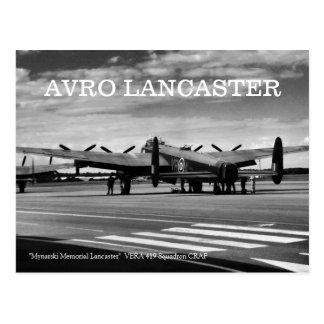 Cartão Postal Bombardeiro de Avro Lancaster