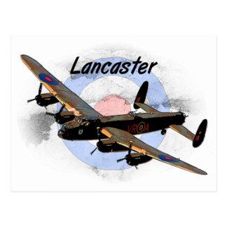 Cartão Postal Bombardeiro de Lancaster