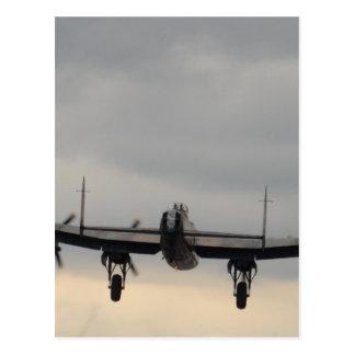 Cartão Postal Bombardeiro de Lancaster de atrás