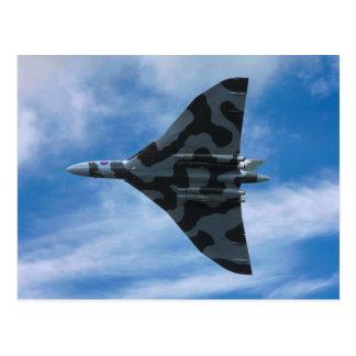 Cartão Postal Bombardeiro de Vulcan em vôo