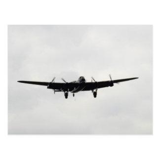 Cartão Postal Bombardeiro pesado de Avro Lancaster