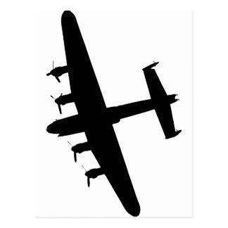 Cartão Postal Bombardeiro RAF de Lancaster