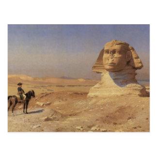 Cartão Postal Bonaparte antes da esfinge