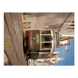 Cartão Postal Bonde da excursão de Lisboa
