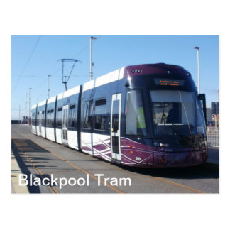 Cartão Postal Bonde de Blackpool