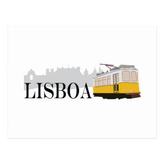 Cartão Postal Bonde de Lisboa