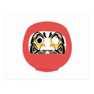 Cartão Postal Boneca de Daruma do japonês