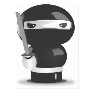 Cartão Postal Boneca de Ninja