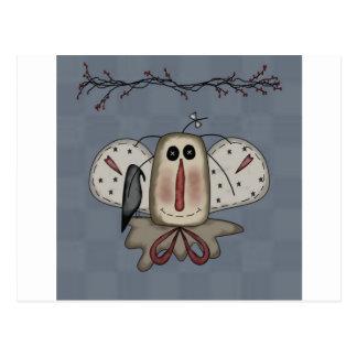 Cartão Postal Boneca Raggedy de Annie com corvo
