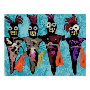 Cartão Postal Bonecas do Voodoo