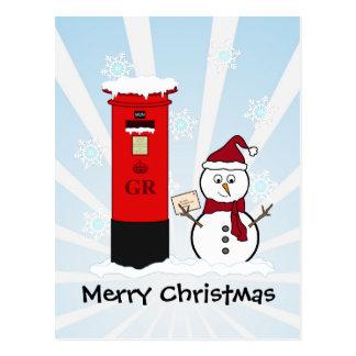 Cartão Postal Boneco de neve
